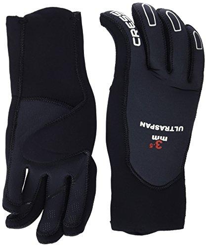 Cressi Erwachsene Tauchhandschuhe Ultraspan Gloves, Schwarz/Grau, M, LX476312