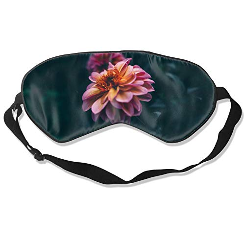 Máscara de ojos con diseño de flores para dormir con ajustable, suave y transpirable para dormir nocturno, hombres y mujeres, para viajes, siesta, yoga, color negro