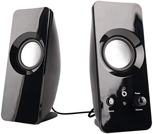 AmazonBasics AC-2.0 AC Powered 2.0 5W Bluetooth Computer Speakers