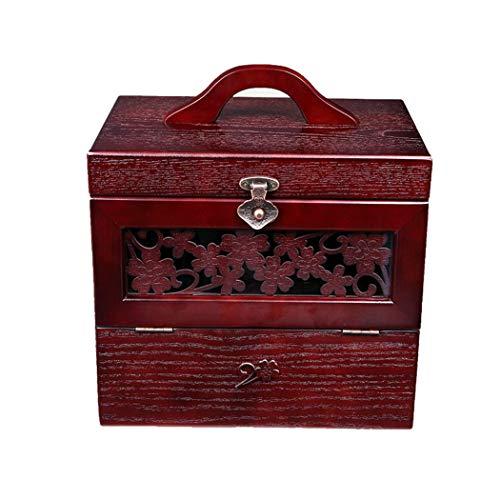 QHYY Caja de Almacenamiento de protección Ambiental Espesar Caja de Herramientas Lavable con Espejo