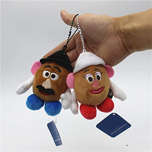 dingtian Juguete de Peluche 2pcs / Lot 12cm Peluches Mr. Potato Head Y Mrs. Potato Head Peluches Juguetes Blandos