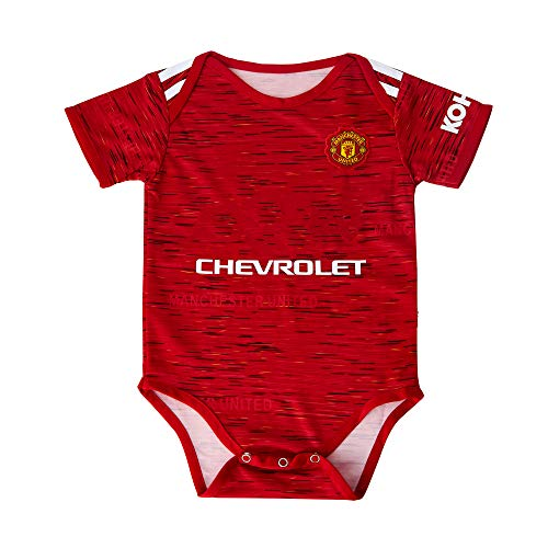 ODOSAN Football Club Baby Bodysuit Comfort Jumpsuit for 0-18 Months Infant and Toddler New Season (Manchester United 2, 0-9 Months Baby)