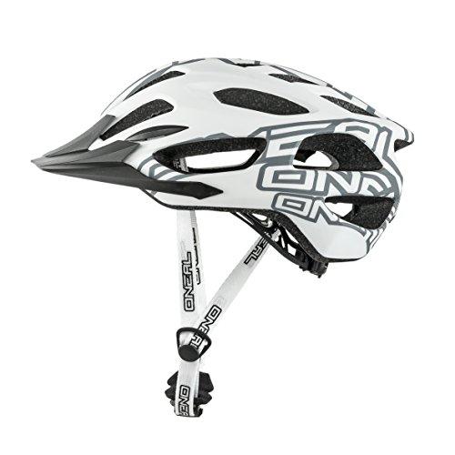 O'NEAL | Casco da Mountain Bike | Enduro All-Mountain | Sistema di ventilazione efficiente, sistema di regolazione della taglia, approvato EN1078 | Casco Q RL | Adulto | Bianco| Taglia XS S M