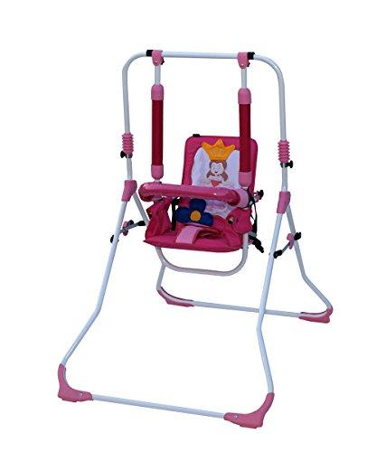 Clamaro 2 in 1 Babyschaukel 'SWING' Indoor Baby Schaukel und Hochstuhl in einem, Sicherheitsgurt mit Bügel, gepolsterter Sitz, kompakt zusammenklappbar - Motiv: Prinzessin