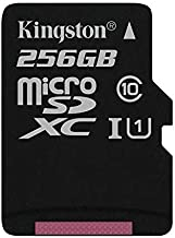 SanFlash Kingston 256GB React MicroSDXC for vivo U20 with SD Adapter (100MBs Works with Kingston)