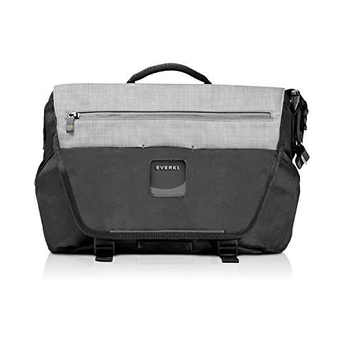 Everki ContemPRO Laptop Bike Messenger - Fahrrad Umhängetasche für Notebooks bis 14,1 Zoll / MacBook Pro 15 mit stabilisierenden Cross-Body-Gurt - Schwarz