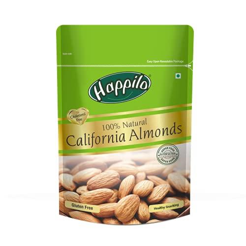 Happilo 100% Natural Premium Californian Almonds,Dried,200g