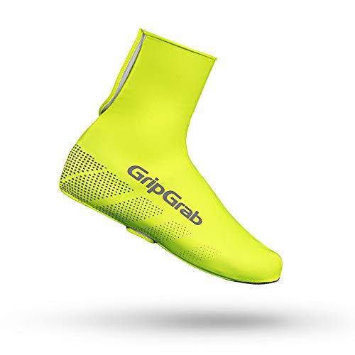 GripGrab Ride wasserdichte Winddichte Fahrrad Überschuhe | Unisex Radsport Überzieher/Gamaschen für Regen Wetter, Gelb Hi-Vis, XS (36-37)