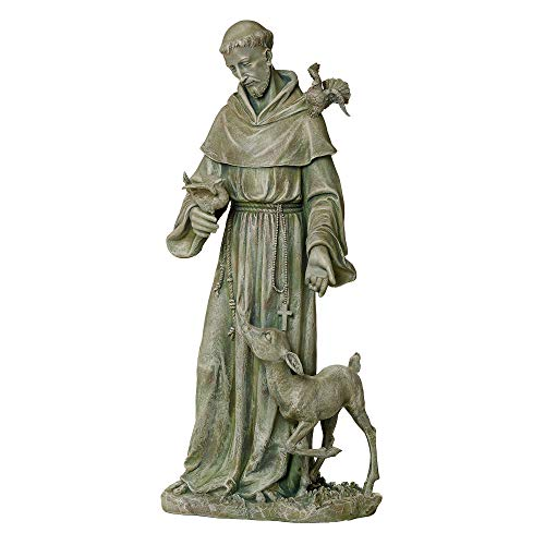 Joseph's Studio by Roman - St. Francis, 36.5H, Garden Collection, Resin and Stone, Decorative, Religious Gift, Home Outdoor and Indoor Decor, Durable, Long Lasting