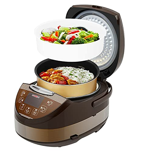 Rice Cooker Asian Style Small Rice Maker Steamer Pot Electric Steamer Digital Electric Rice Pot Multi Cooker & Food Steamer Warmer 5.3 Qt 8 Cups 5 Core RC 0502 Ratings Best Deal