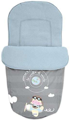 Baby Star 25493 – Sac pour siège universelle, couleur BLEU et gris