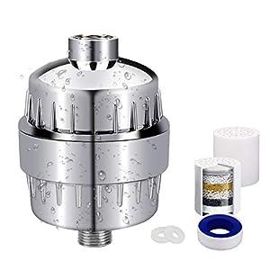 Filtro para Ducha Universal, AUELEK 10 Etapas Filtro Reemplazable Purificador Ducha de Alta Salida para Cuide su Piel…