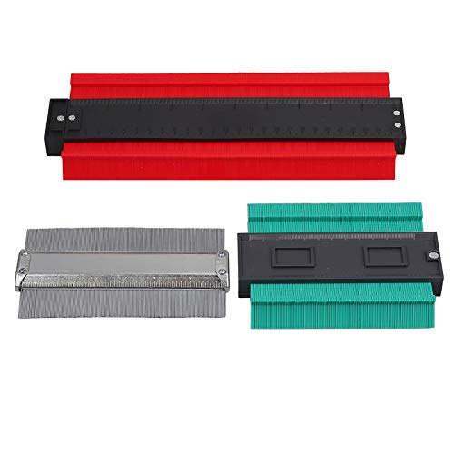 COLFULINE 3pcs contourmessenset, 120mm 150mm 250mm set vormgeven profiel contourmeter set voor metalen plastic tegels tegels tapijt hout plint