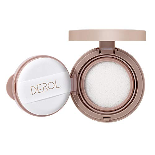 biteatey Polvo prensado de maquillaje, soplo de polvo de cojín de aire, control de aceite, crema para aclarar la piel, base de maquillaje para edificar