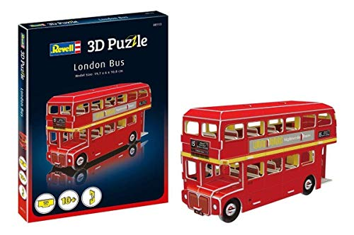 Revell- Bus de Londres 3D Puzzle, Multicolor