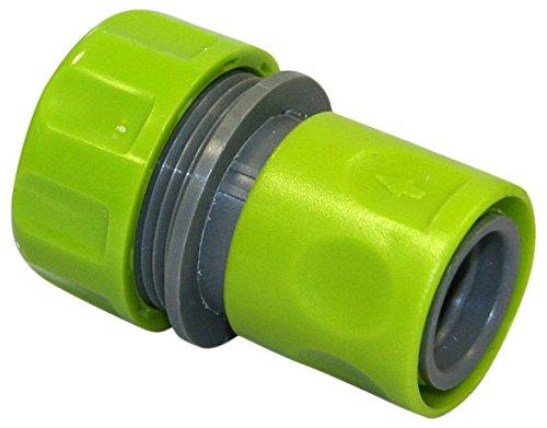 Xclou Schlauchstück aus Kunststoff - Schnellkupplung-Gewindestück - Schlauch Adapter für 3/4 Zoll Gartenschlauch - Anschluss mit Schlauchkupplung 19 mm