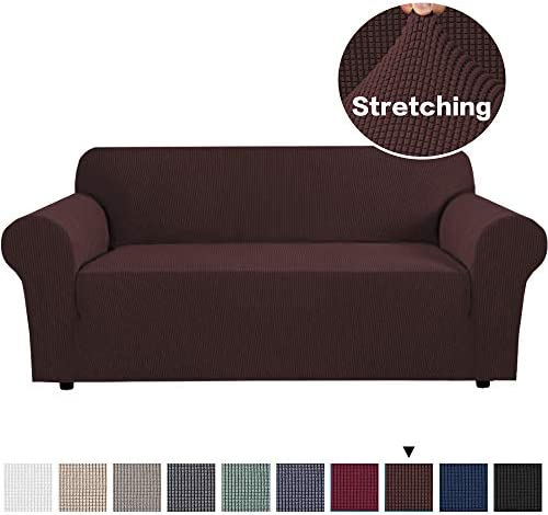 Best 1 Piece Sofa Cover Fitted Spandex Sofa Furniture Protector Jacquard Stretch Anti-Wrinkle Slip Resist