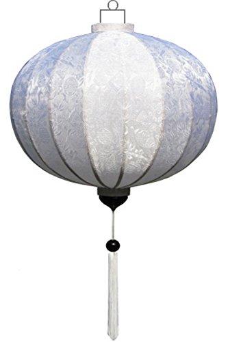 Lampionsenzo Vietnamesische Seide Lampion Rund Weiß by
