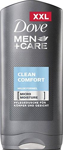 Dove Men+Care Duschgel Clean Comfort (für ein angenehmes Hautgefühl mit milder Formel und Micro Moisture Technologie), 6er Pack (6 x 400 ml)