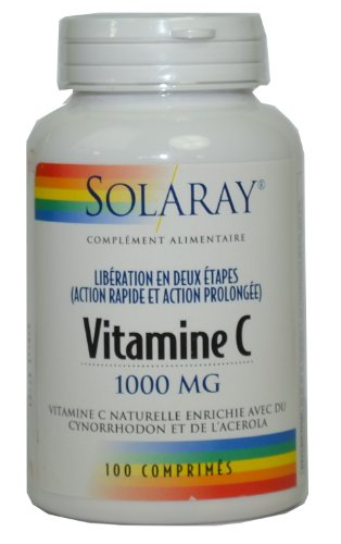 Solaray - Vitamine c 1000 mg - 100 comprimés - Action prolongée