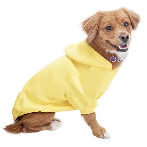 Eastlion Hund Pullover Welpen-T-Shirt Warm Pullover Mantel Pet Kleidung Bekleidung, Gelb, S