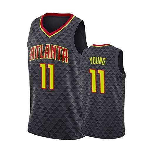 ZRHZB Hawks #11 Young Unisex Camiseta De Baloncesto De Los Hombres Transpirable All-Star Jersey(Tamaño: S-XXL),S