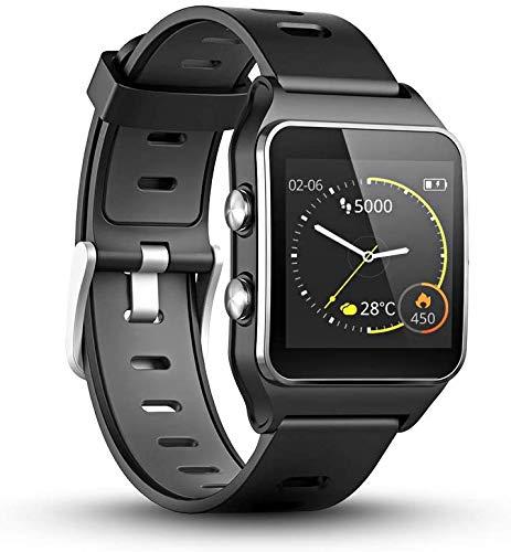 GPS-Laufuhr mit Herzfrequenz & amp; Schlafmonitor, 17 Sportmodus, Smart Watch Schlaf-Tracker mit Schrittzähler Schritt Kalorienzähler für Frauen Männer mit Farbbildschirm, 5ATM wasserdichte (schwarz