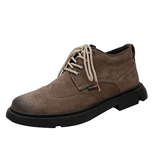 Mens Chukka Boots Casual Suede Desert Shoes Leather Desert Boots Walking Chukka Shoes Goosun Classic Round Toe Chukka Ankle Boots Dress Fashion Oxfords Suede Leather Boots Brown