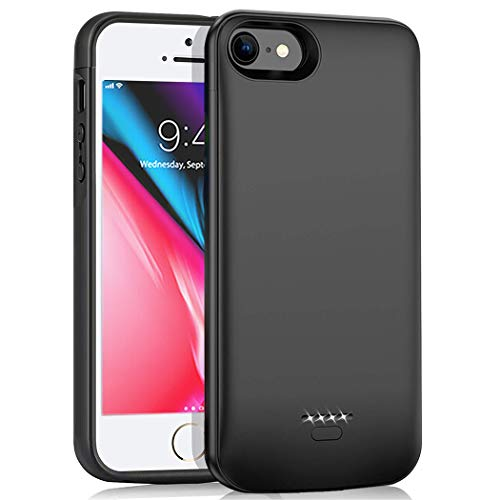 Battery Case for iPhone 5 /5S /SE, 4000mAh Slim Portable Protective Charging case Compatible with iPhone 5 /5S /SE (4.0 inch) Rechargeable Battery Pack Charger Case -Black (Not Fit 5C/SE 2020)
