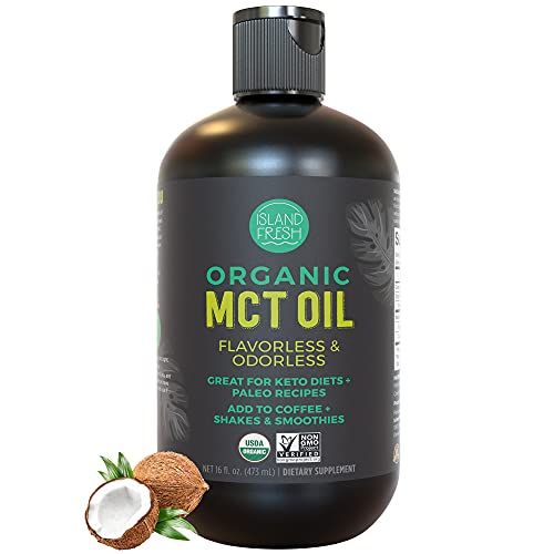 Organic MCT Oil for Keto Diet   Perfect for Morning Coffee, Helps Support Increased Energy   Made from 100% Organic Coconuts (16 fl. oz)