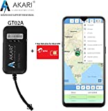 AKARI GPS Tracker GT02A with SIM Card 1 Year Data Plan for Car