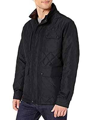 Hawke & Co Men's CAVELL Quilt Field Coat, Black, Medium from Hawke & Co