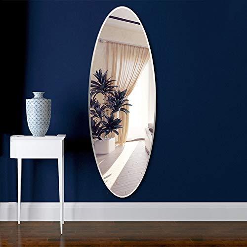 SSSY Espejo de Pared Espejo de Cuerpo Entero sin Marco, Espejo de tocador HD Pulido Biselado Ovalado, para Sala de Estar y Espejo de Entrada al Dormitorio 90 × 40 cm/60 × 45 cm