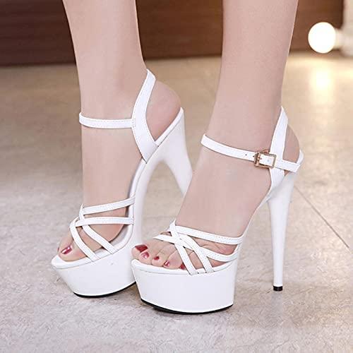 YHCS Sexy Donna Tallone Tacchi a Stripper Tacchi Alte Scarpe da Donna Bene con Tacchi Alti 15 cm Piattaforme Femminili Sandali Scarpe Signora superba sandals2020