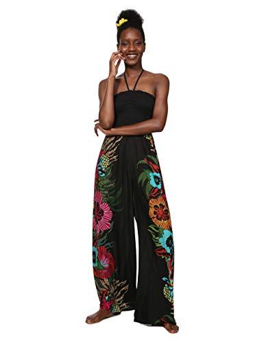 Desigual Damen Dress Swimwear Dalila Woman Black Jumpsuit, Schwarz (Negro 2000), Large