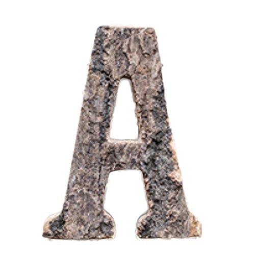 BIGBOBA Hölzerne Buchstaben A-Z & 0-9 Retro DIY Dekoration für Hauptcafé-Bekleidungsgeschäft-Geburtstags-Party-Hochzeits-kakifarbiges, Heigh 10CM (A)