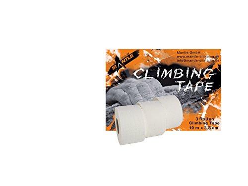 Mantle - Fingertape 3,8 cm x 10m als 3er Pack weiß Sporttape für Klettern Kampfsport