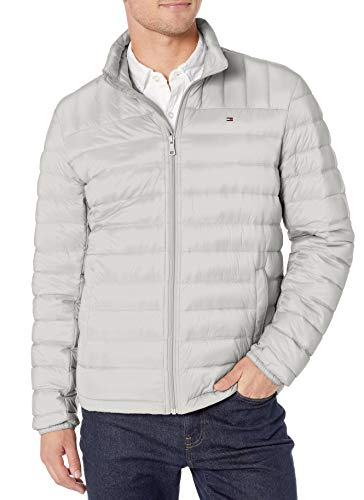 Tommy Hilfiger Men's Packable Down Jacket (Regular and Big & Tall Sizes), Ice, Small
