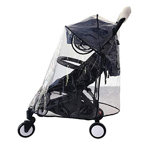 Windschutz Kinderwagen Regenschutz, Einzelwagen (Durchsichtig, M)