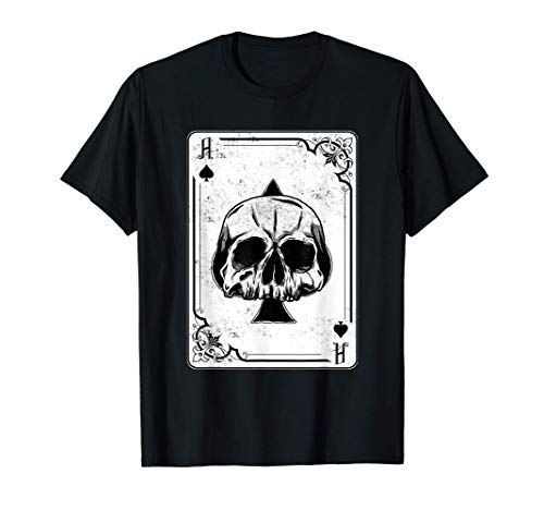 Emo Gothic And Punk Ace of Spades Poker Game Playing Card Camiseta