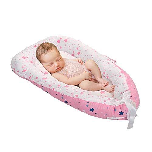 Cama portátil para bebé, nido para dormir, corralito, cuna de viaje para bebé, cuna para recién nacido, parachoques, colchón de enfermería extraíble, 80 cm * 46 cm