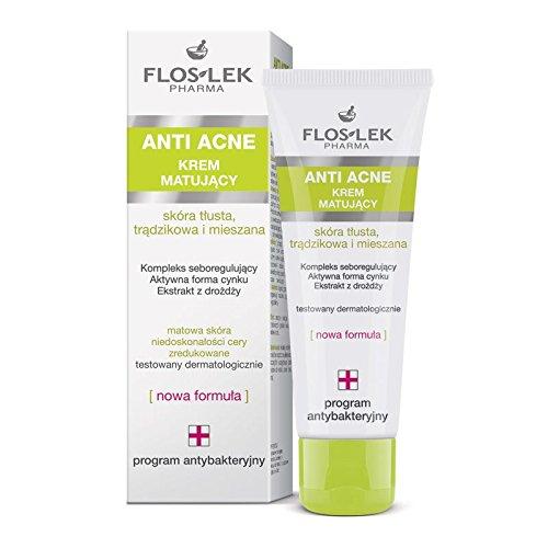floslek anti acné estera alfombrillas de crema facial para piel grasa mezclado acné largo 50ml