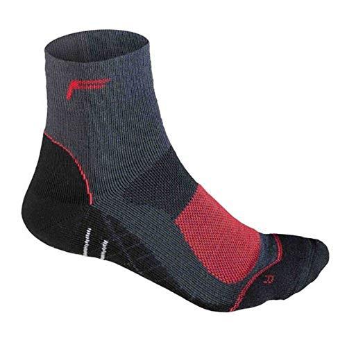 Flite Calcetines altos de ciclismo de montaña Merino para hombre, antracita/rojo, 43-46, 24-4512-8-3-0192