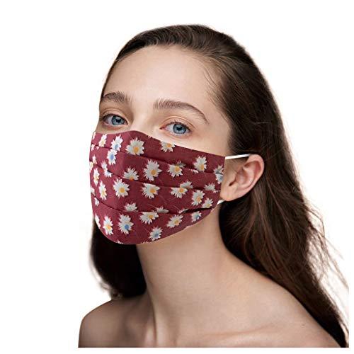 PPangUDing Mundschutz Damen Waschbar Wiederverwendbar Baumwolle mit Motiv Atmungsaktive Staubdicht Mund und Nasenschutz Halstuch Bandana Multifunktionstuch Schlauchschal