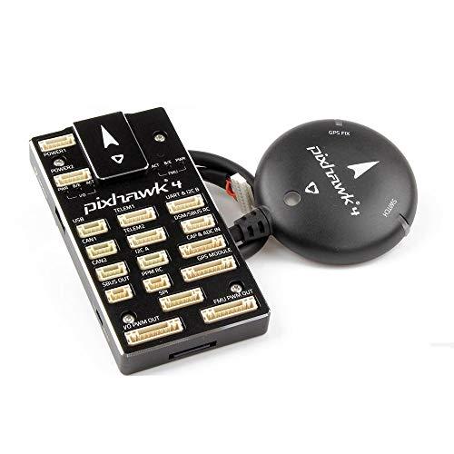Wpond Controlador de Vuelo del piloto automático HolyBro Pixhawk 4 y módulo M8N GPS Combo KSX3200