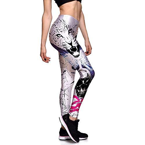 Leggins Mallas Pantalones Deportiva Niña, Impresiones de cabeza de tigre for mujer Leggings capri de cintura alta Medias de entrenamiento Control de abdomen Pantalones de yoga Pilates Pantalones depor