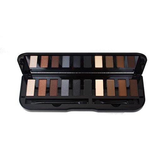 Fulltime 10 couleurs oeil ombre maquillage fard à paupières palette Matte (A)