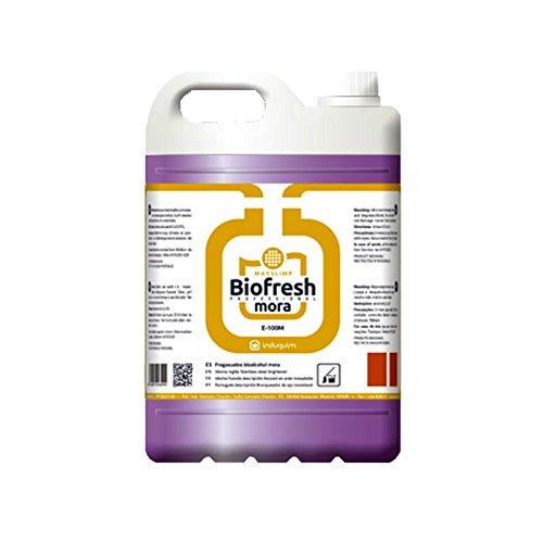 Fregasuelos Bioalcohol Mora Profesional Industrial Formato 5-Litros, Abrillanta y perfuma todo tipo de suelos excepto corcho y madera, Contiene muy buen perfume que dura más tiempo en el ambiente