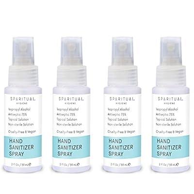 SPARITUAL Hand Sanitizer Spray 2oz Travel Size   4-pack Bundle Alcohol Based Hand Sanitizers