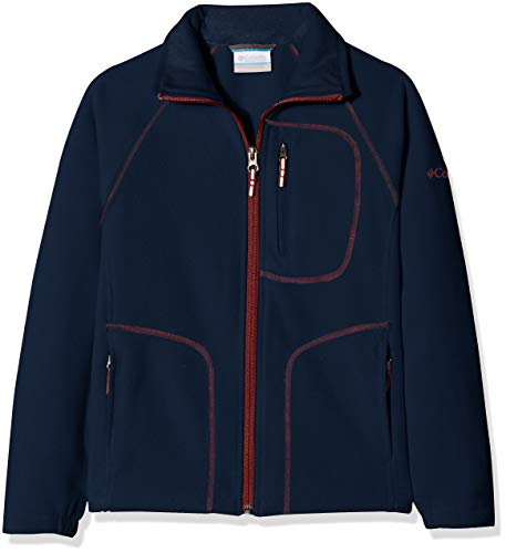 Columbia Fleecejacke für Kinder, Fast Trek II Full Zip Fleece Jacket, Polyester, blau (collegiate navy/red element), Gr. XS, WY6779
